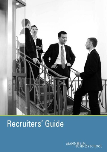 Recruiters' Guide - Mannheim Business School