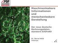 Maschinenlesbare Informationen und ... - PDF Association