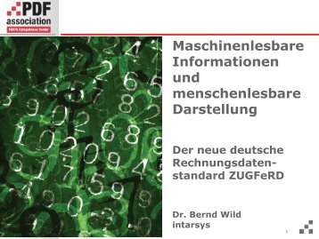 Maschinenlesbare Informationen und ... - PDF Association
