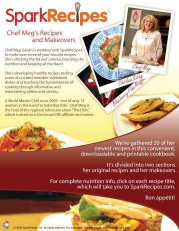 Chef Meg's Recipes and Makeovers - Bendix