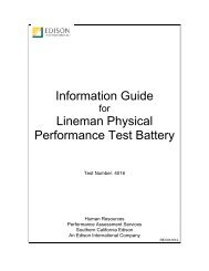 Lineman Physical Performance (Test 4016) - Edison International