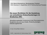 Die neuen Richtlinien für die Gestaltung von einheitlichen ... - VSVI