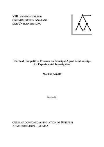 An Experimental Investigation Markus Arnold - whu.edu