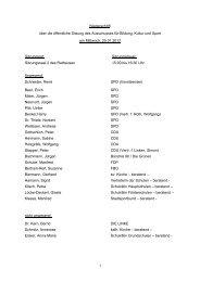 Niederschrift über die öffentliche Sitzung des ... - Kamp-Lintfort