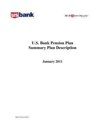 U.S. Bank Pension Plan Summary Plan Description