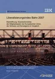 Eisenbahn-Regulierung in Europa - Deutsche Bahn AG