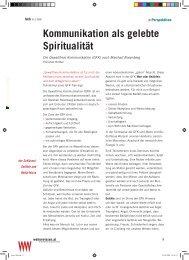 Kommunikation als gelebte Spiritualität - Christian Rüther