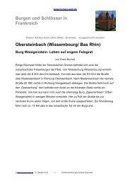 (Wissembourg/ Bas Rhin) Burg Wasigenstein - Burgen-Web.de