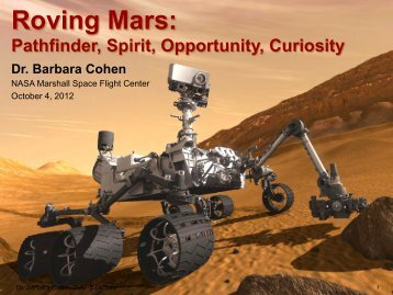 Roving Mars: Pathfinder, Spirit, Opportunity, Curiosity - Chapters