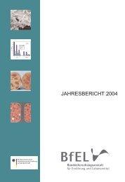 JAHRESBERICHT 2004 – MRI - Max Rubner-Institut