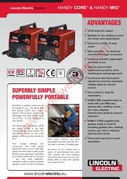 Lincoln Electric Europe - Rapid Welding and Industrial Supplies Ltd