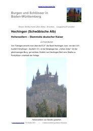 Schloss Hohenzollern - Burgen-Web.de