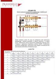 Colmix PG - zestaw do ogrzewania podłogowego + ... - Prandelli
