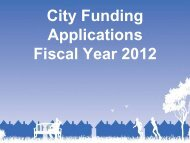 to view FY2012 City Funding Application Information