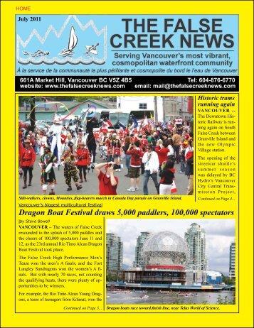 false creek - The False Creek News