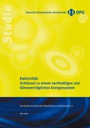 Elektrizität: Schlüssel zu einem nachhaltigen und klimaverträglichen ...