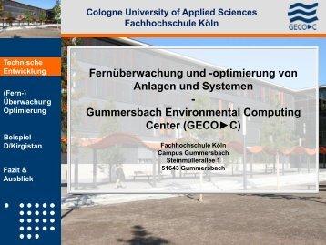 optimierung - Gummersbach Environmental Computing Center