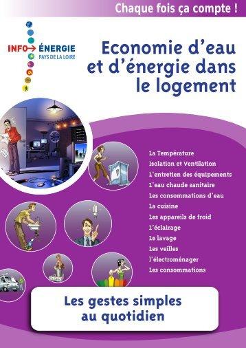 """Livret """"Gestes simples"""" des Espaces Info Energie des Pays de la Loire"""