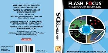 INSTRUCTION BOOKLET / MODE D'EMPLOI - Nintendo