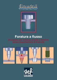Flowdrill - foratura a flusso - SEF meccanotecnica