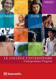 Brochure Collège Universitaire - Sciences Po
