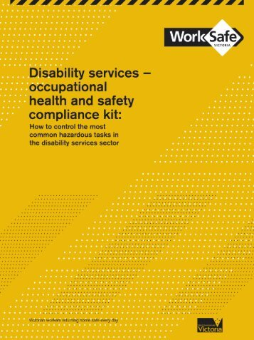Disability services - occupational health and safety compliance kit