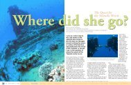 The Quest for the Yolanda Wreck - X-Ray Magazine