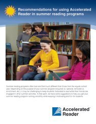 Recommendations for using Accelerated Reader in summer reading ...