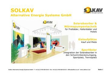 SOLKAV Alternative Energie Systeme GmbH ... - SOLPOOL