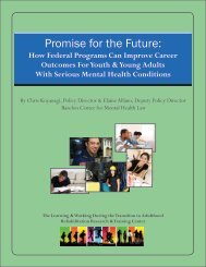 Promise for the Future: How Federal Programs Can Improve Career ...