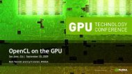Opencl on the GPU