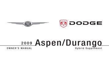 2009 HB/HG Aspen/Durango HEV Supplement
