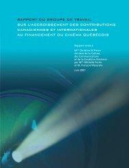 Rapport - Ministère de la Culture et des Communications