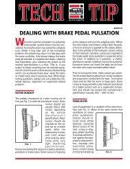 DEALING WITH BRAKE PEDAL PULSATION - Dali Racing