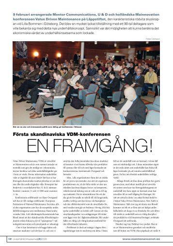Första skandinaviska VDM-konferensen en framgång! - Mentor Online