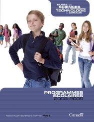 Programmes scolaires 08-09 - Musée des sciences et de la ...