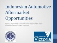 Indonesian Automotive Aftermarket Opportunities - Australian ...