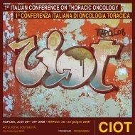 i conferenza italiana di oncologia toracica - Associazione Italiana ...