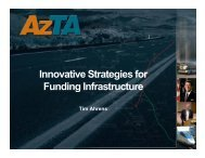 Innovative Strategies for Funding Infrastructure - Sonoran Institute