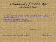 Philosophy for Old Age - The Z Life