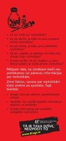Fakti par narkotikām - Health Promotion Unit - Page 2