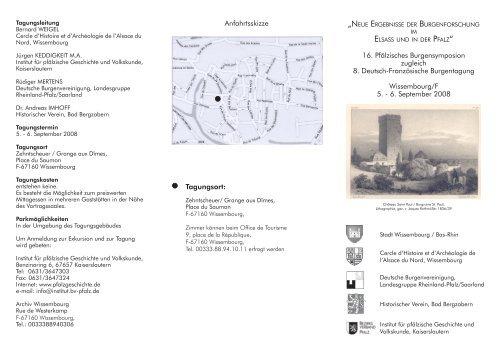16. Pfälzisches Burgensymposion zugleich 8. Deutsch-Französische ...