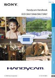 Handycam Handbook DCR-SR47/SR48/SR67/SR87
