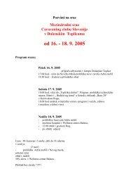 od 16. - 18. 9. 2005