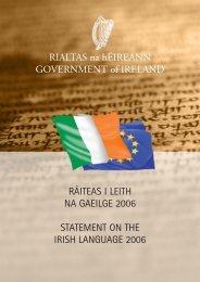 Ráiteas an Rialtais i Leith na Gaeilge 2006 - Department of Taoiseach