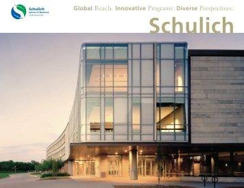 Schulich Overview - Schulich School of Business - York University