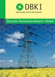 Deutsche Biomassekraftwerk I GmbH - Fondsvermittlung24.de