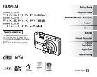 Finepix F480 / Finepix F485 / Finepix J50 OWNER'S MANUAL