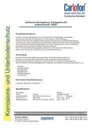 40207 Hohlraumversiegelung transparent - Carlofon
