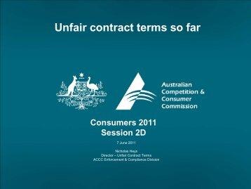 Nick Heys [PDF 222KB] - The Australian Consumer Law
